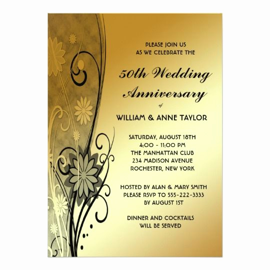 Golden Anniversary Invitation Wording Luxury Best 25 50th Anniversary Invitations Ideas On Pinterest