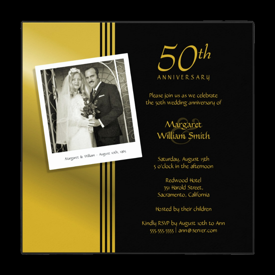 Golden Anniversary Invitation Wording Unique Anniversary Invitations Personalize now