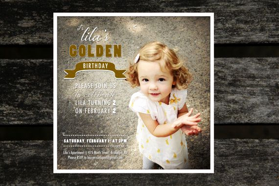 Golden Birthday Invitation Wording Awesome Children S Golden Birthday Invitation Set Of 25 Double
