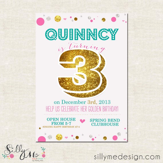 Golden Birthday Invitation Wording Awesome Items Similar to Golden Birthday Custom Golden themed