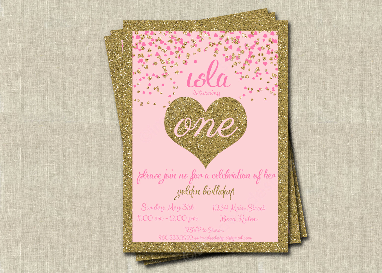 Golden Birthday Invitation Wording Inspirational Golden Birthday Invitations Printable Digital File