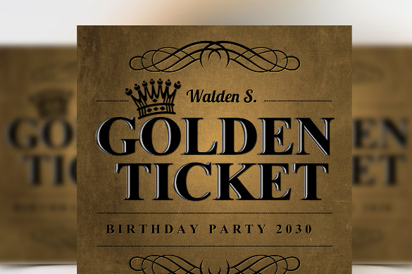Golden Ticket Birthday Invitation Beautiful 66 Ticket Invitation Templates Psd Vector Eps Ai