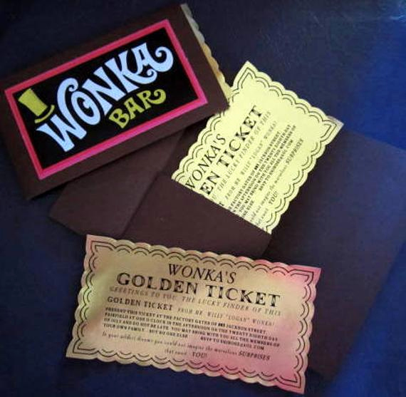 Golden Ticket Birthday Invitation Unique 12 Willy Wonka Golden Tickets as Birthday Invitations with