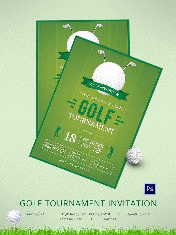 Golf Invitation Template Free Beautiful 25 Fabulous Golf Invitation Templates & Designs