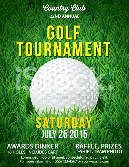 Golf Invitation Template Free Beautiful Golf tournament Invitation Flyer with Grass and Ball