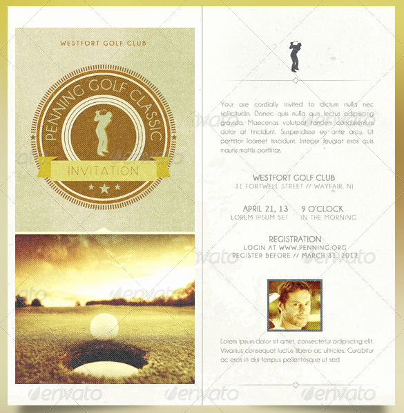 Golf Invitation Template Free Best Of 25 Fabulous Golf Invitation Templates & Designs