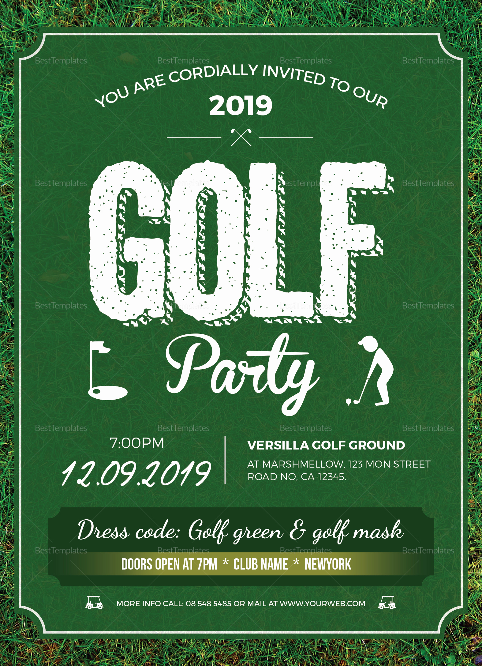 Golf Invitation Template Free Fresh Golf Party Invitation Design Template In Word Psd Publisher