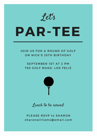 Golf Invitation Template Free Fresh Turquoise Golf Party Invitation Templates by Canva