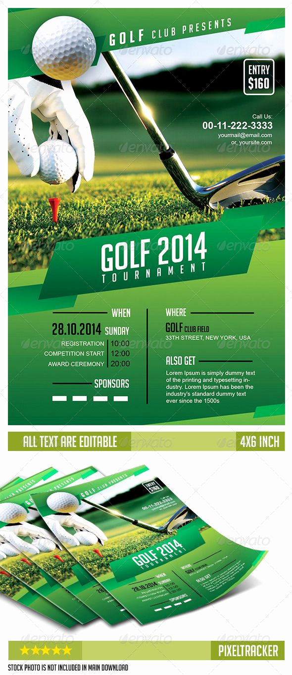 Golf Invitation Template Free Inspirational Golf tournament Flyer Template No Model Required