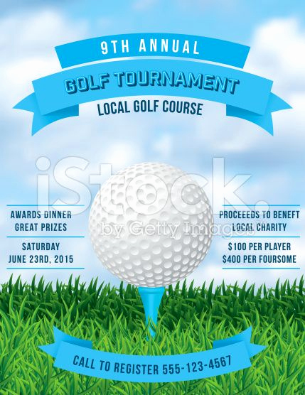 Golf Invitation Template Free Lovely Vector Golf tournament Poster Invitation Template Ball In