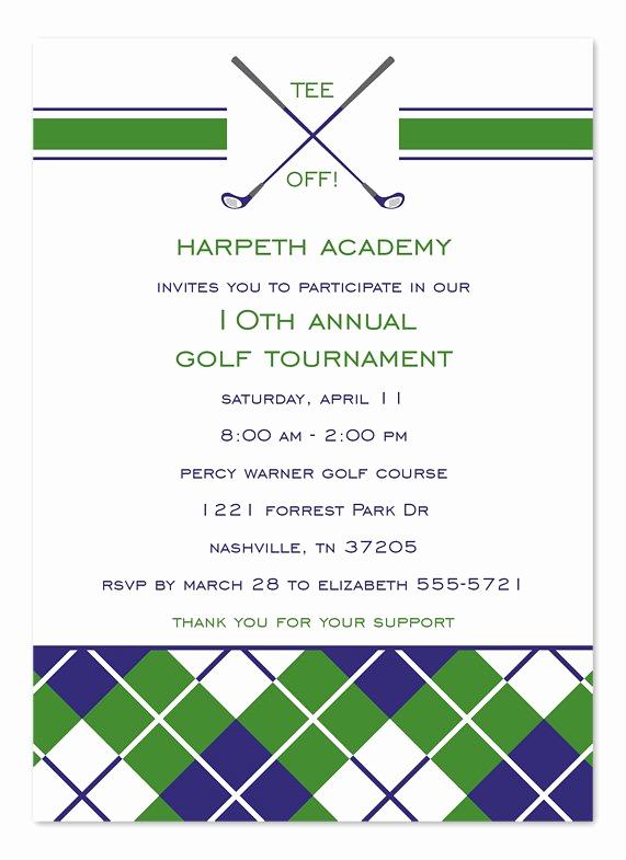 Golf Invitation Template Free New Golf tournament Invitation Templates