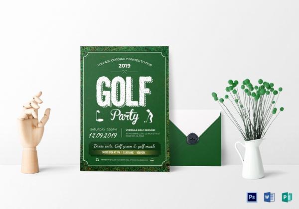 Golf Invitation Template Free Unique 25 Fabulous Golf Invitation Templates & Designs