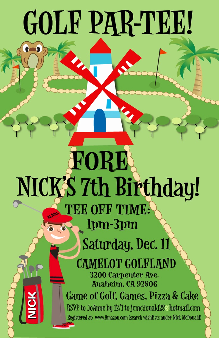 Golf Invitation Template Free Unique Golf themed Birthday Invitations Ideas – Bagvania Free