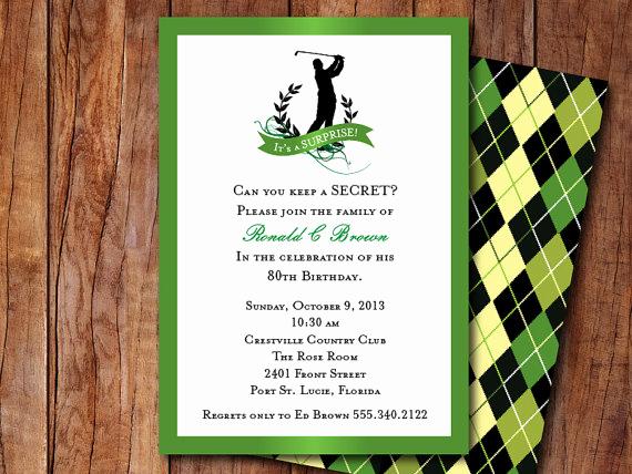Golf Invitation Template Free Unique Golf themed Invitation