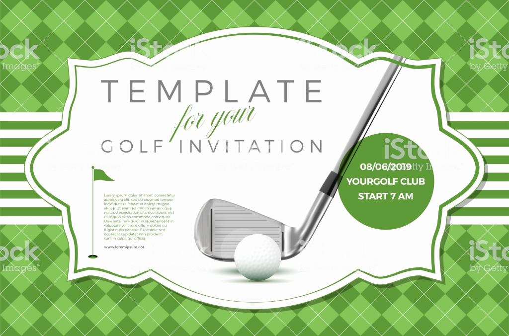 Golf Invitation Template Free Unique Template for Your Golf Invitation with Sample Text Stock