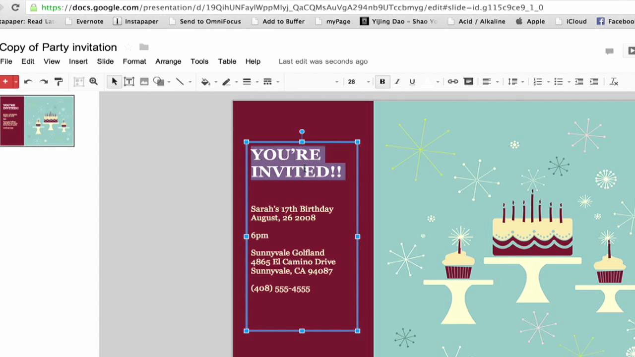 Google Doc Invitation Template Best Of How to Create A Party Invitation In Google Documents