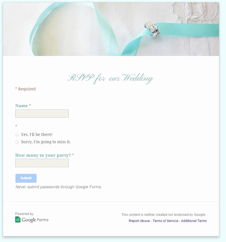Google Doc Invitation Template Best Of How to Use Google Docs to Create An Online Wedding Rsvp