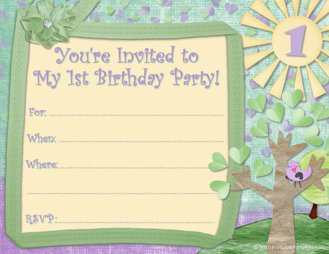 Google Docs Invitation Template Unique Birthday Party Invitation Template Birthday Party