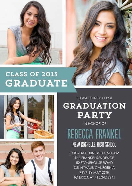 Grad Party Invitation Ideas Best Of 25 Best Ideas About Graduation Invitations On Pinterest
