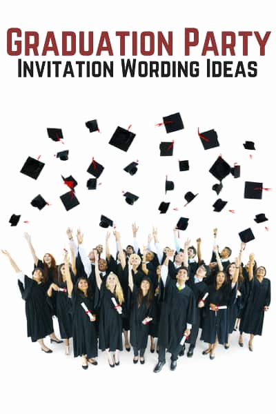 Grad Party Invitation Ideas Elegant Graduation Party Invitation Wording Allwording