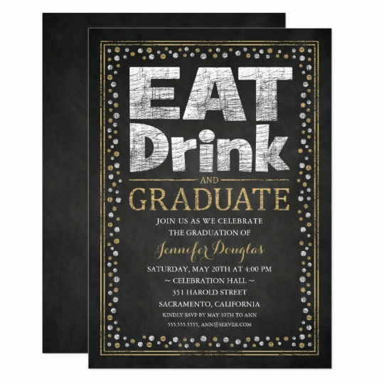 Grad Party Invitation Ideas Luxury Vintage Raise Your Glass Party Invitations