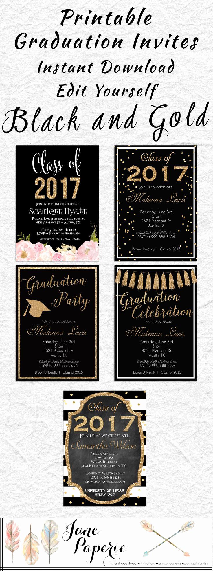 Grad Party Invitation Ideas Unique Best 25 High School Graduation Invitations Ideas On