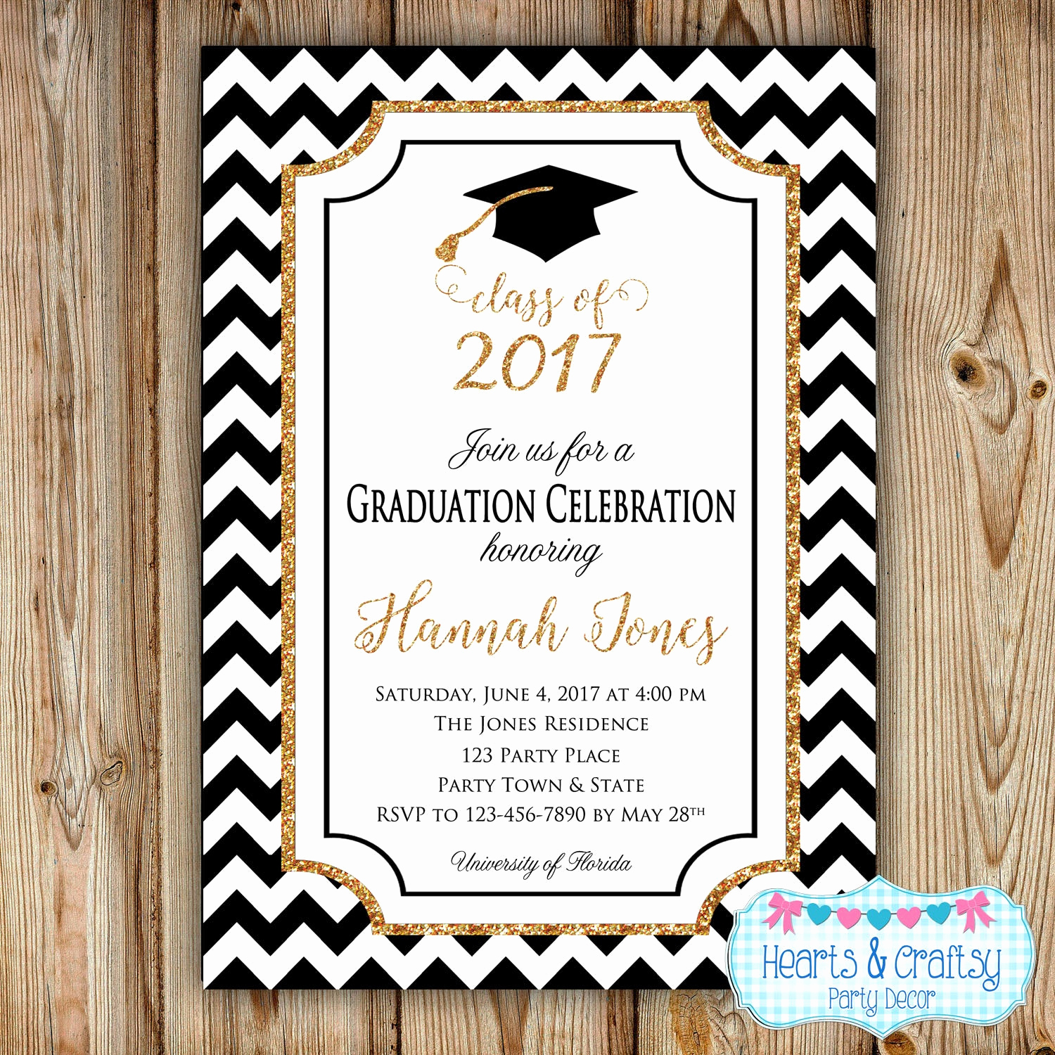 Graduation Announcement and Party Invitation Awesome Graduation Party Invitation College Graduation Invitation