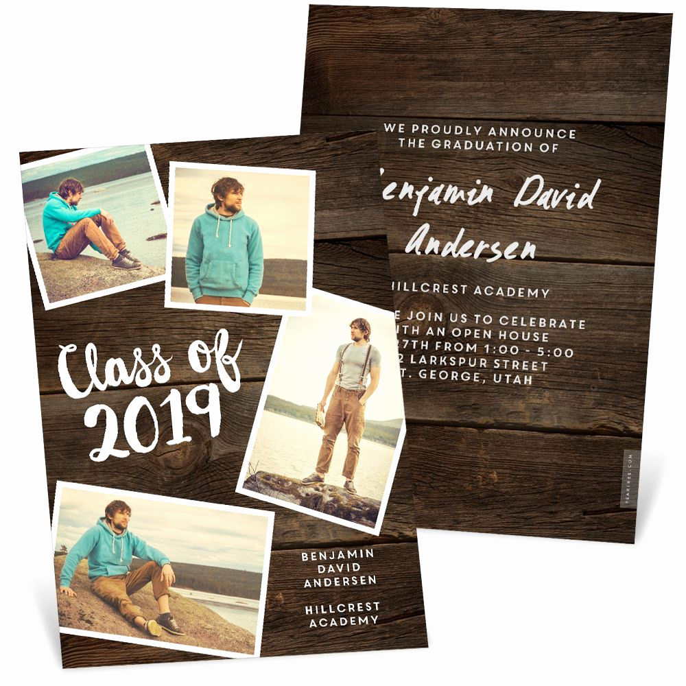 Graduation Announcement and Party Invitation Beautiful Rustic Vibes Graduation Announcements