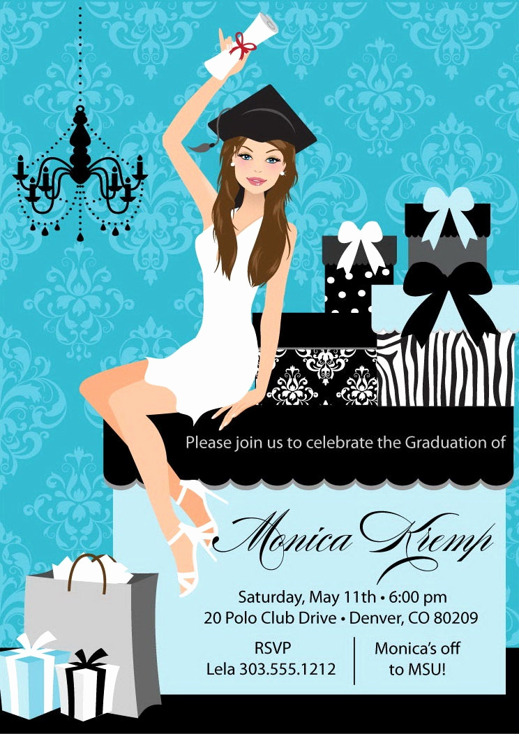 Graduation Announcement and Party Invitation Best Of College Graduation Party Invitation Diy High School Grad