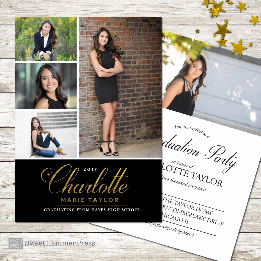 Graduation Announcement and Party Invitation Best Of Multiple S Graduation Announcement formal Graduation