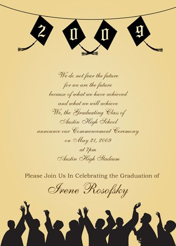 Graduation Announcement and Party Invitation Elegant Graduation Party Party Invitations Wording