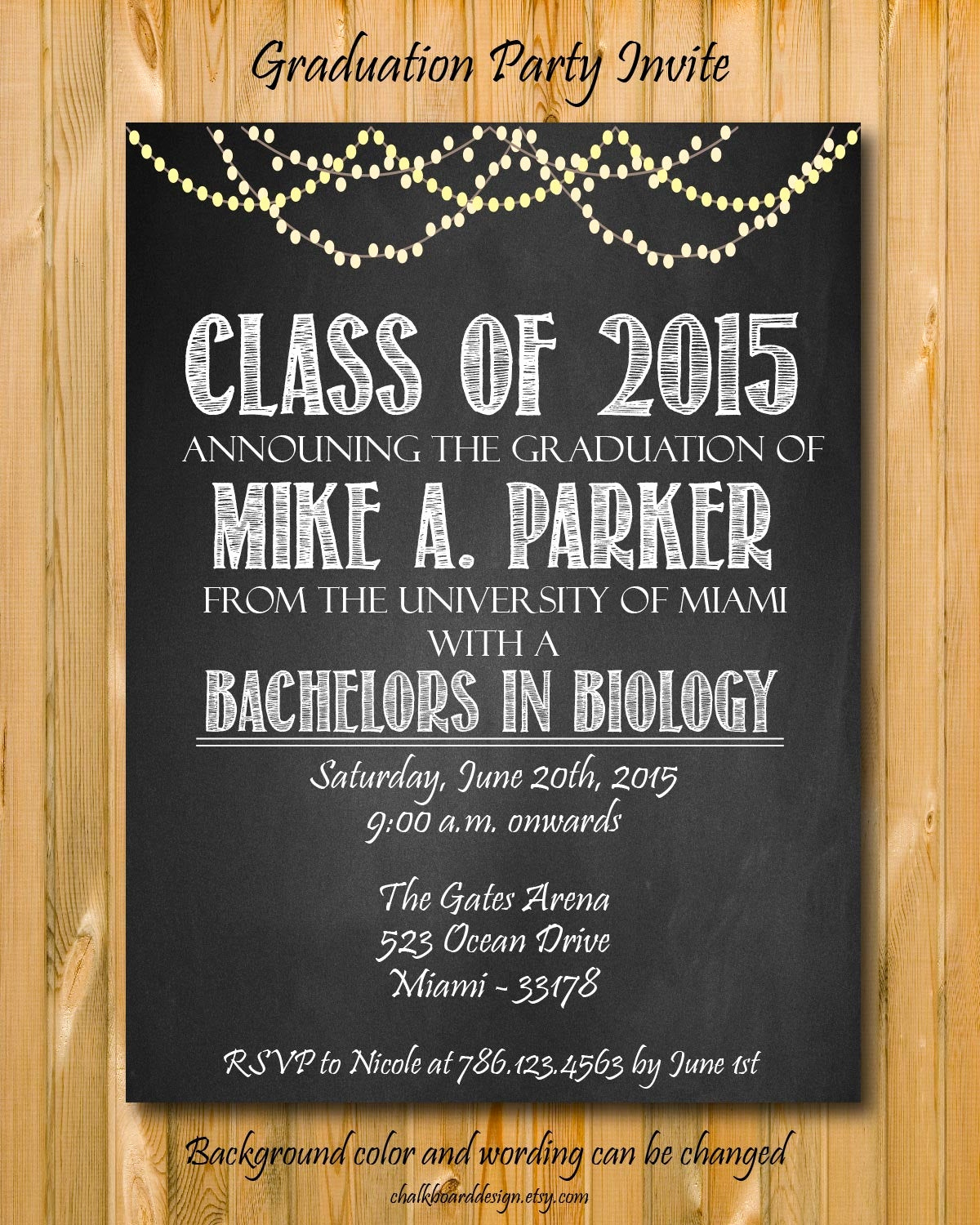 Graduation Announcement and Party Invitation Fresh Graduation Invitation College Graduation Announcement