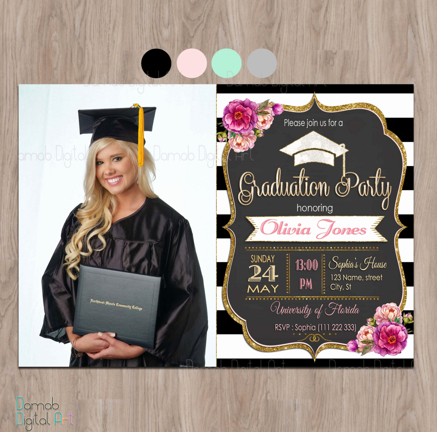 Graduation Announcement and Party Invitation Fresh Graduation Invitation Graduation Party Invitation