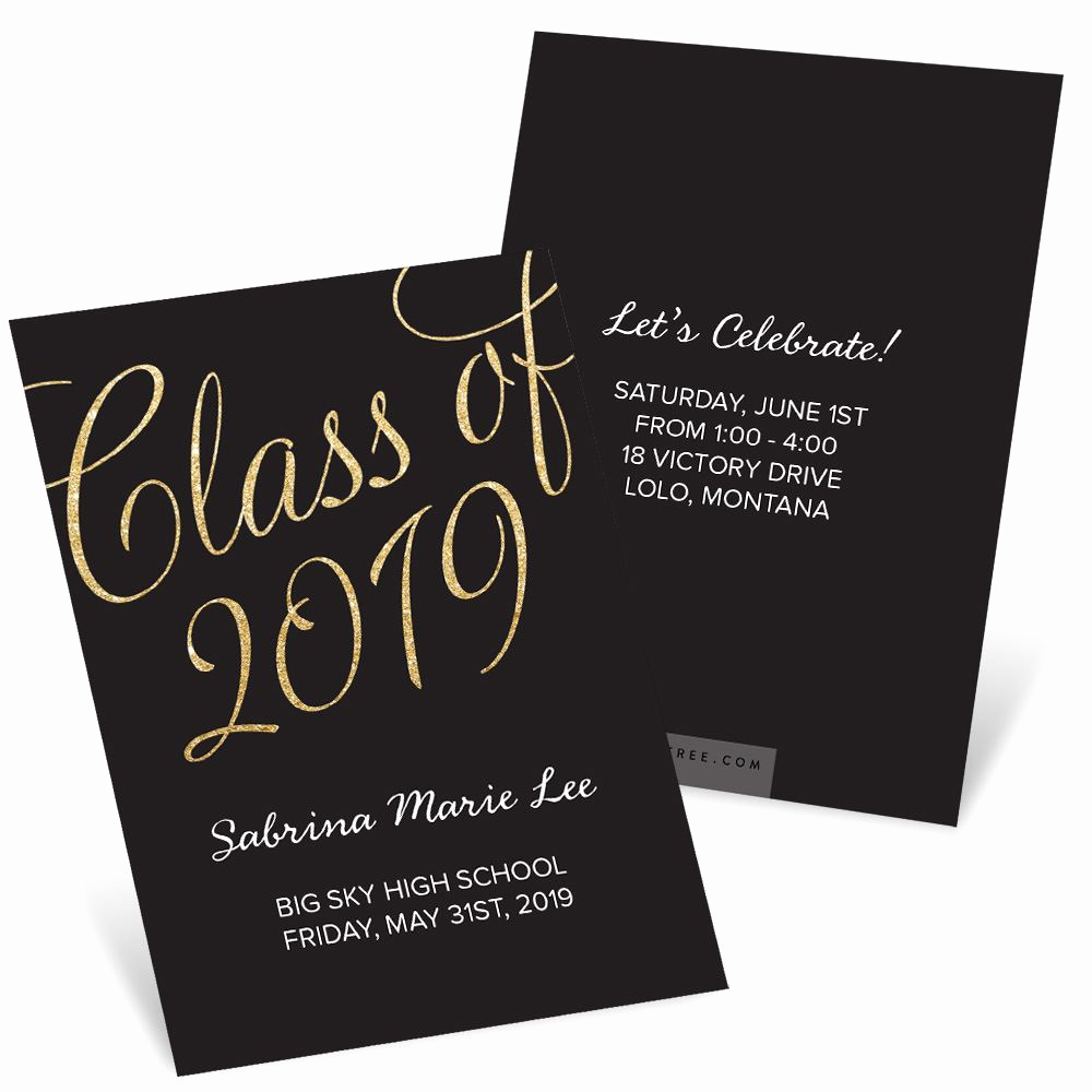 Graduation Announcement and Party Invitation Inspirational Classic Party Mini Graduation Party Invitations