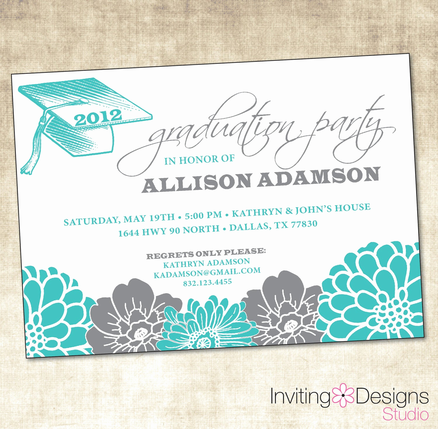 Graduation Announcement and Party Invitation Luxury Graduation Party Invitation Printable File
