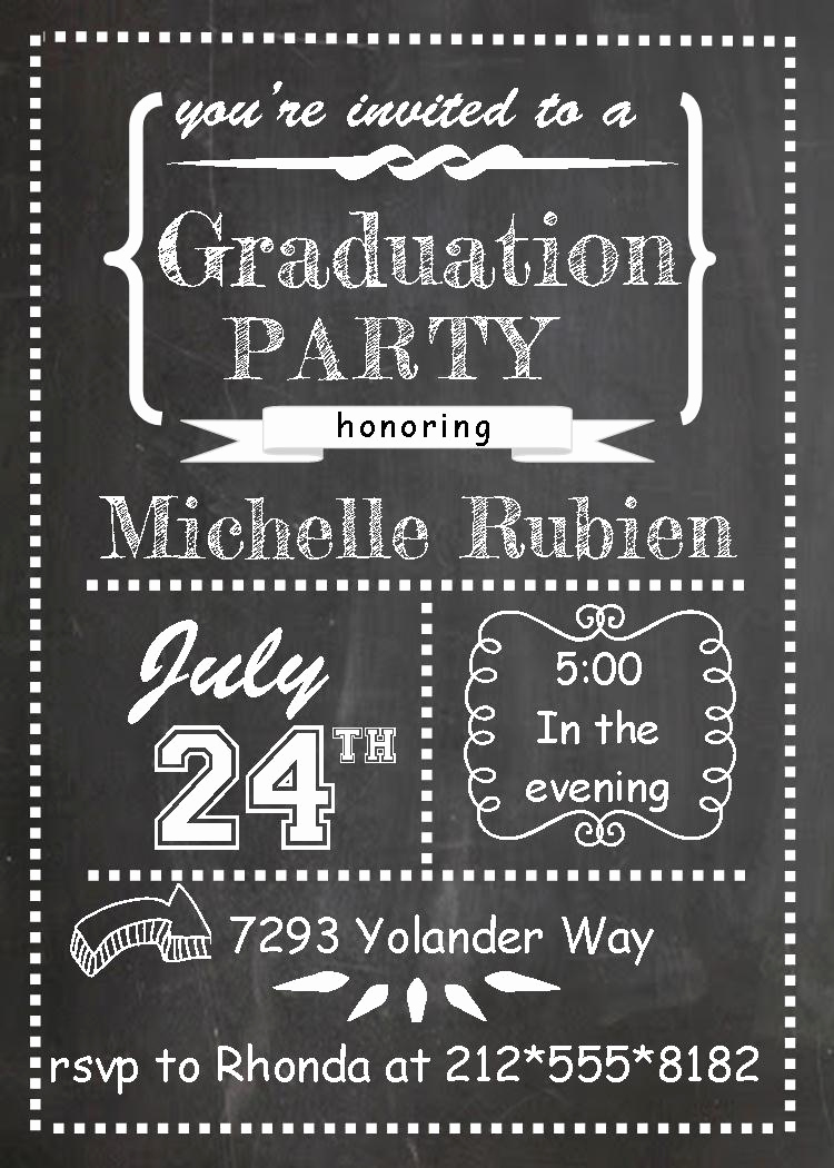 Graduation Announcement and Party Invitation Luxury Graduation Party Invitations High School or College
