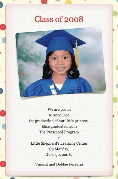 Graduation Announcement Vs Invitation Awesome 100 Best Pre K Graduation Images On Pinterest