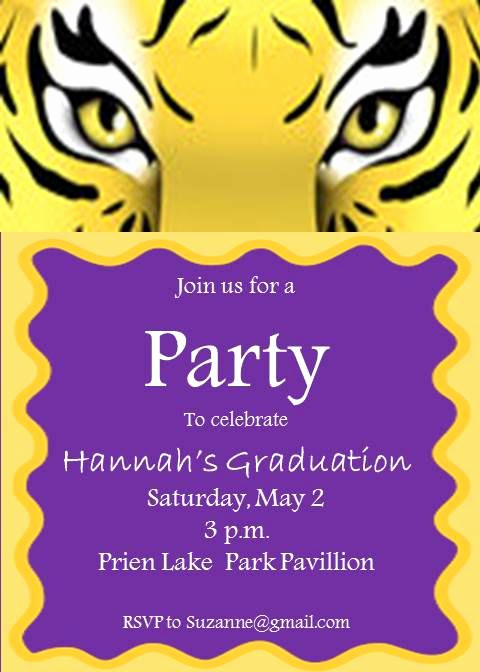 Graduation Announcement Vs Invitation Elegant 17 Best Images About Lsu Bday Party On Pinterest