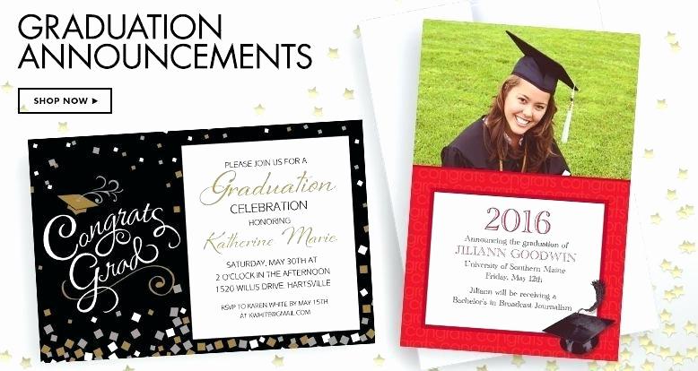Graduation Announcement Vs Invitation Luxury Party City Graduation Invitations