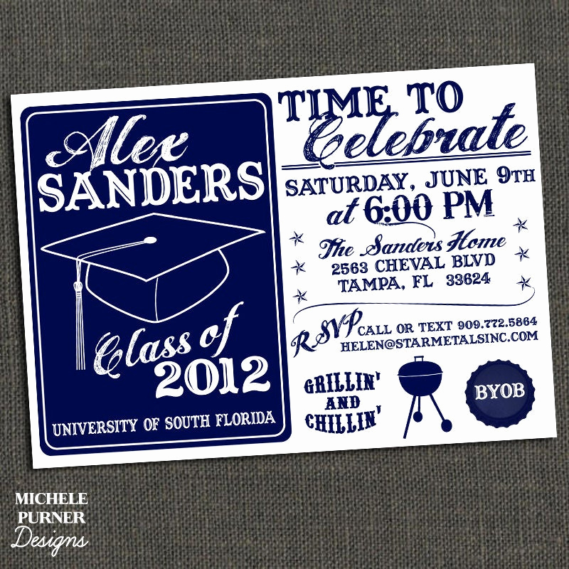 Graduation Bbq Invitation Wording Best Of High School or College Graduation Party by