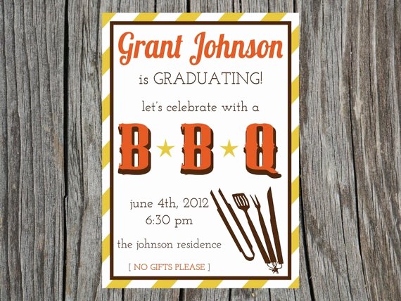Graduation Bbq Invitation Wording Best Of Items Similar to 2013 Graduation Party Invitation