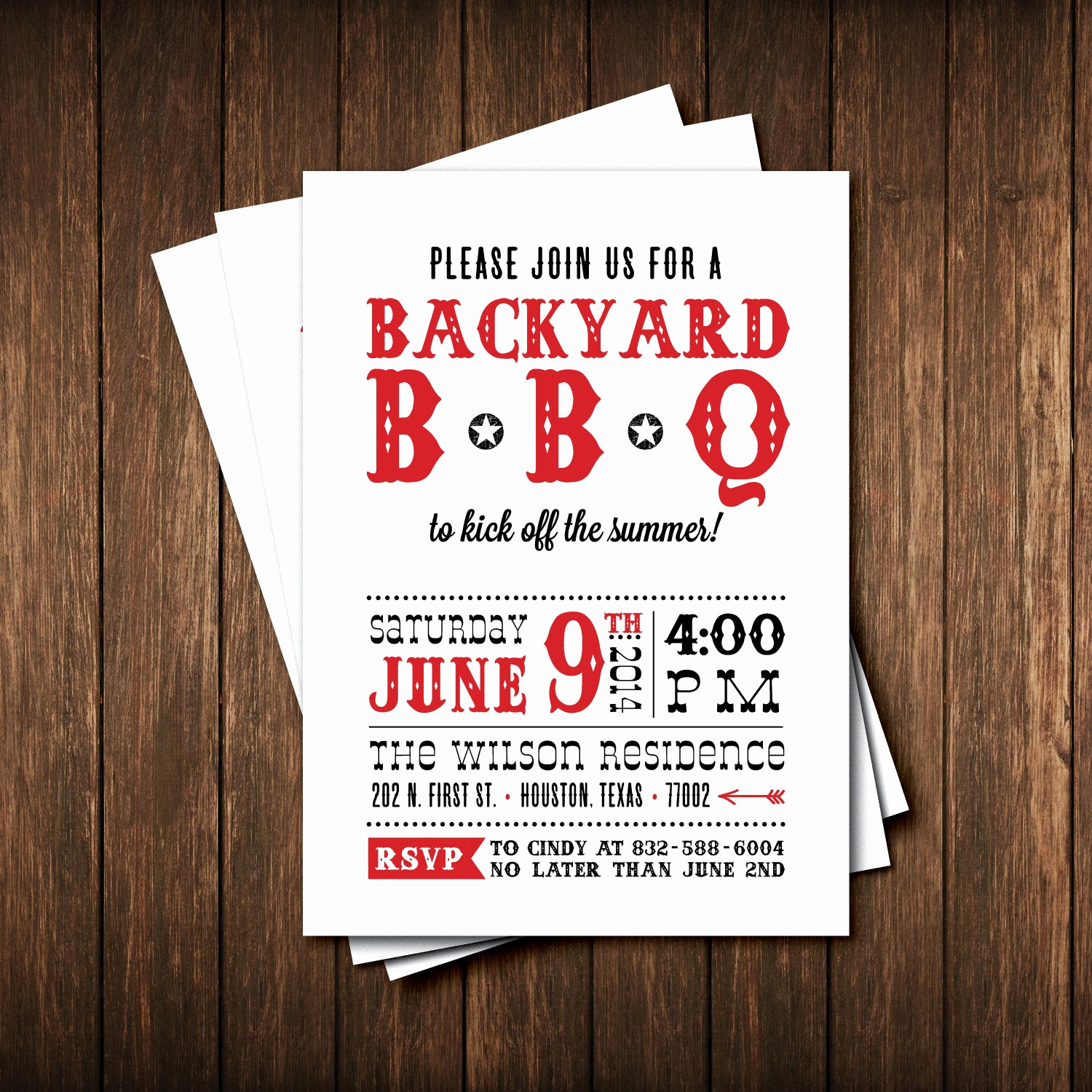 bbq party invitations birthday