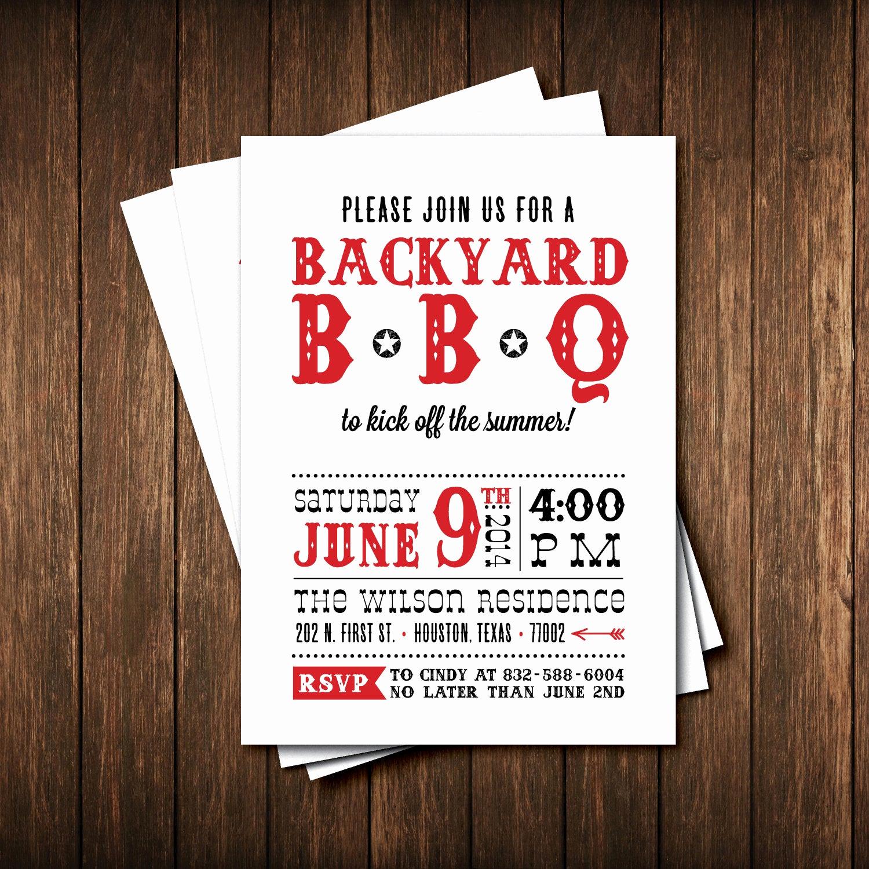 bbq party invitations birthday