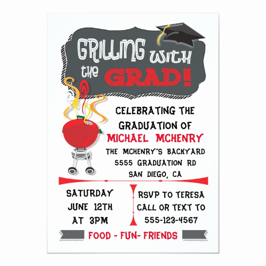 Graduation Bbq Invitation Wording Fresh Birthday Party Invitations Backyard Bbq theme