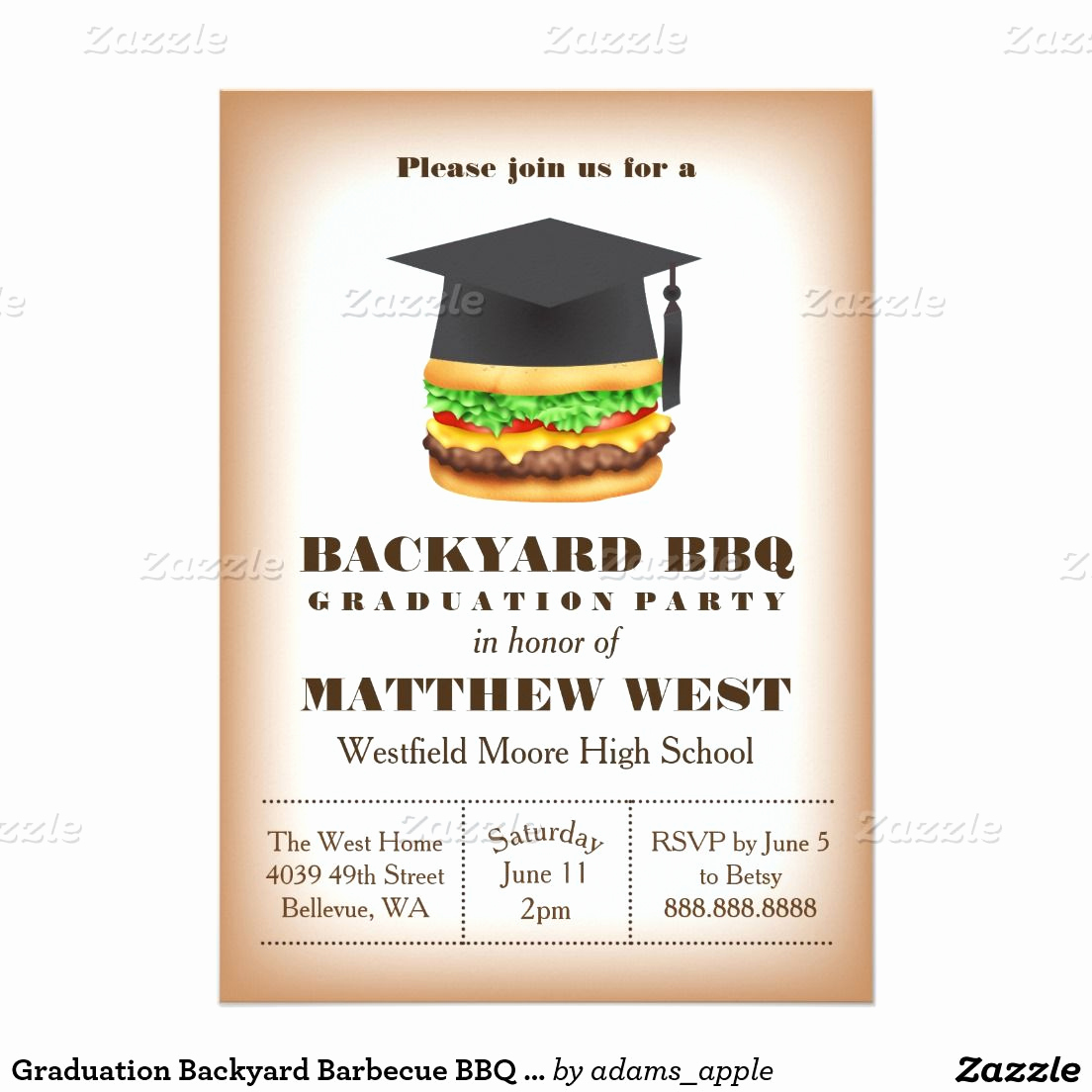 Graduation Bbq Invitation Wording Inspirational Graduation Backyard Barbecue Bbq Party Cookout 5x7 Paper