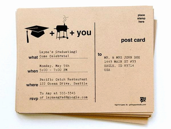 Graduation Bbq Invitation Wording Lovely 10 Creative Graduation Invitation Ideas Hative