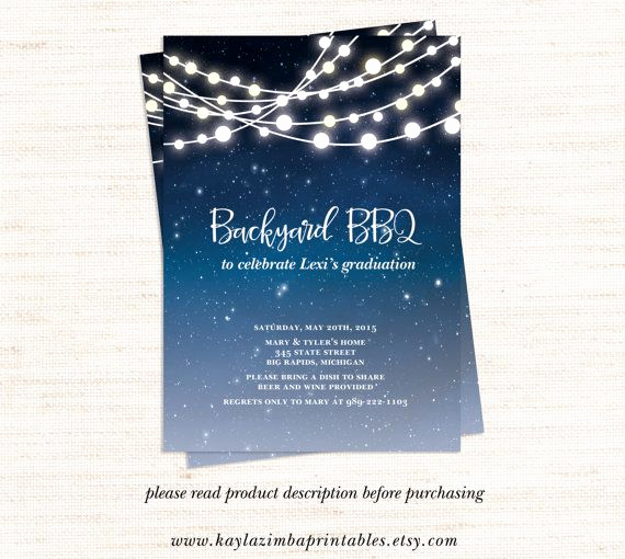 Graduation Bbq Invitation Wording Luxury Backyard Bbq Invitation Printable Patio Party Graduation