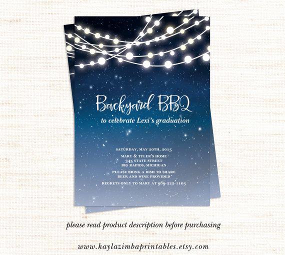 Graduation Bbq Invitation Wording Luxury Backyard Bbq Invitation Printable Patio Party Graduation