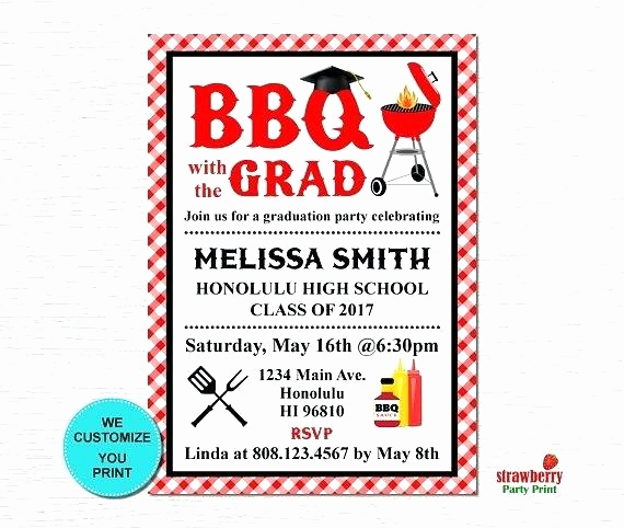 Graduation Bbq Invitation Wording New Group Graduation Party Invitation Barbecue Wording