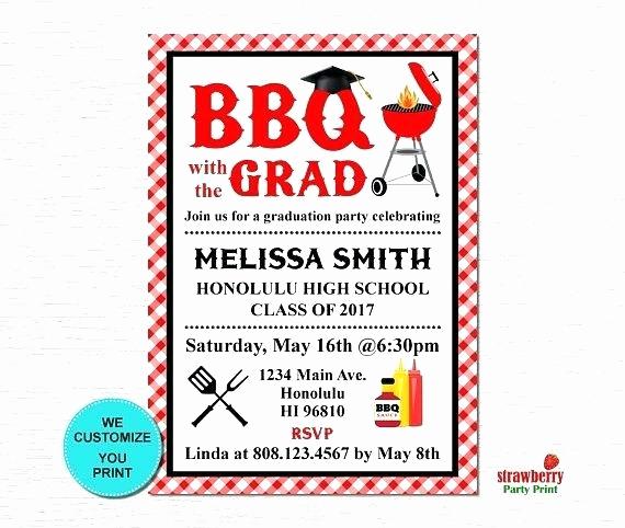 Graduation Bbq Invitation Wording New Group Graduation Party Invitation Barbecue Wording
